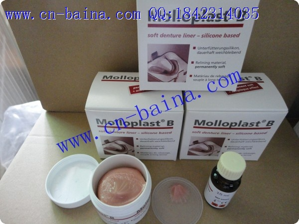 Molloplast B soft denture liner silicon based
