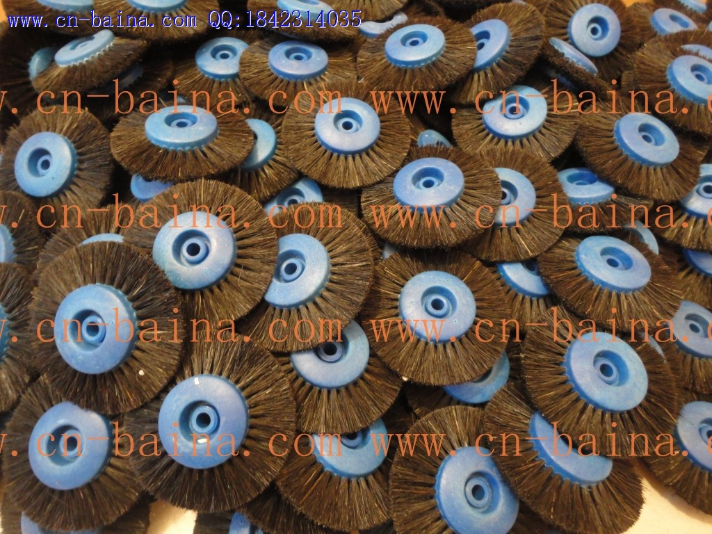 Polishing wheel blue plastic core brush wheel