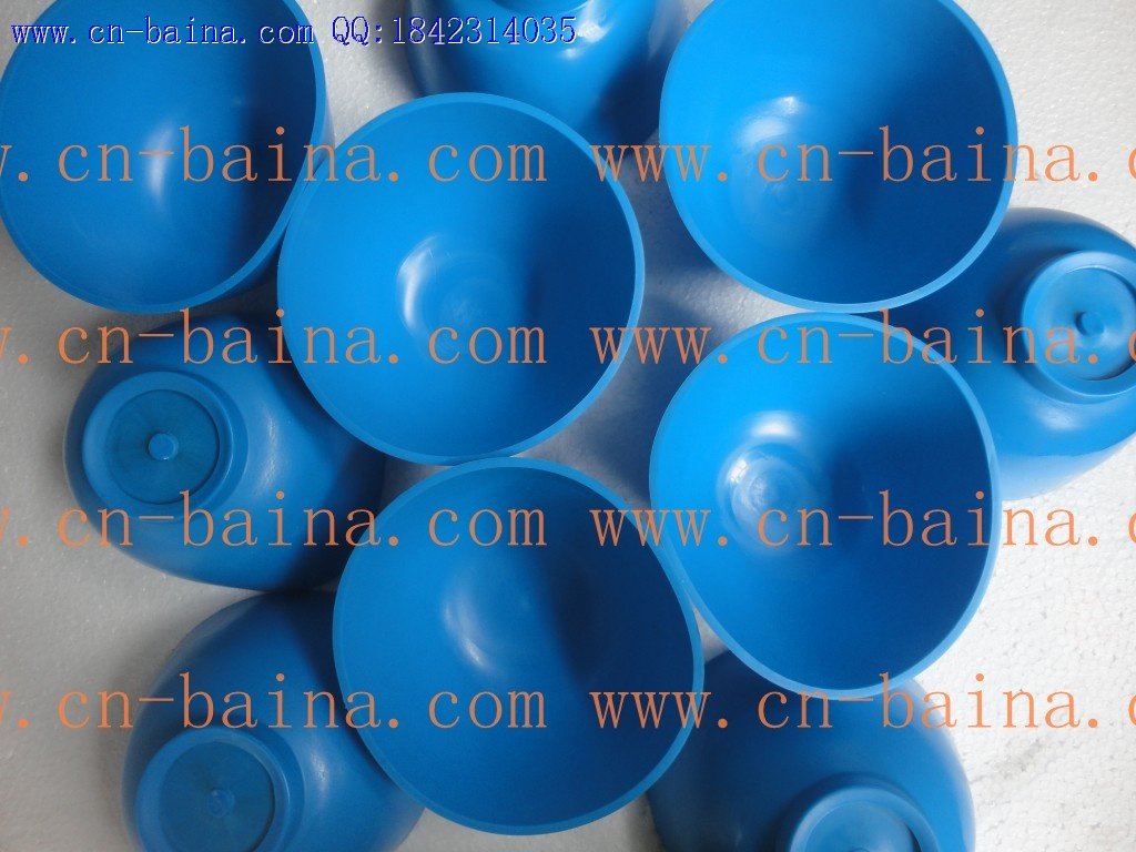 Blue plastic bowl gypsum powder mixing bowl